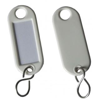 Schlüsselschilder zum Beschriften mit S-Haken Farbe schwarz 5-200 Stück